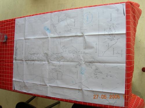 Plan der Wassersuche